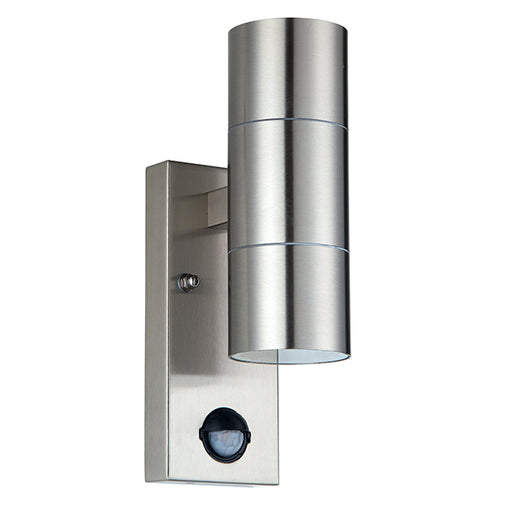 Luceco LEXDSSUDPIR IP54 Rated Stainless Steel Up & Down Outdoor Wall Light with PIR Sensor - Luceco - Sparks Warehouse