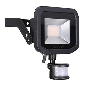 BG LFSP12B130 Black LED Floodlight & PIR 15W - Warm White