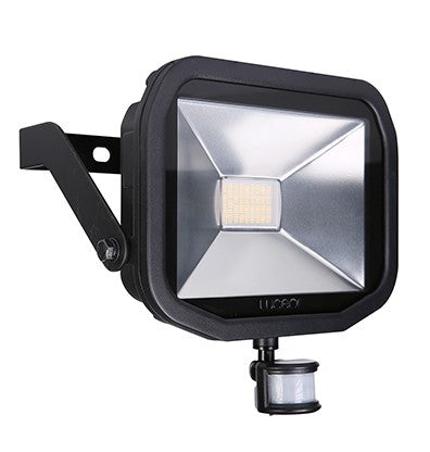 Bg Luceco LFSP30B130 Black LED Floodlight & PIR 38W - Warm White - Luceco - Sparks Warehouse