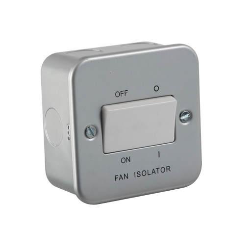 Knightsbridge M1100 Metal Clad 10A Fan Isolator Switch - Knightsbridge - sparks-warehouse