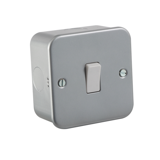 Knightsbridge M2000 Metal Clad 10A 1G 2 Way Switch - Knightsbridge - sparks-warehouse