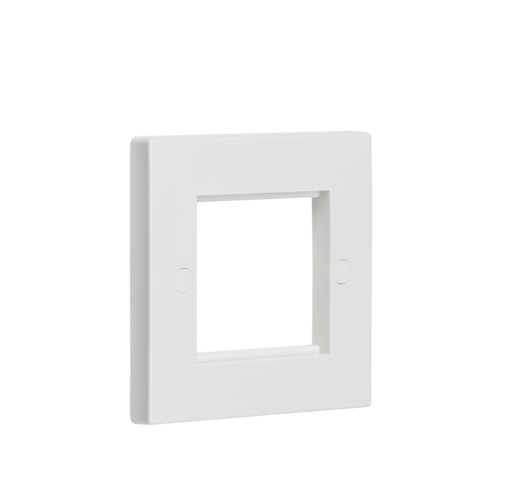 Knightsbridge NET2GWH 2G Modular Face Plate - White - Knightsbridge - Sparks Warehouse