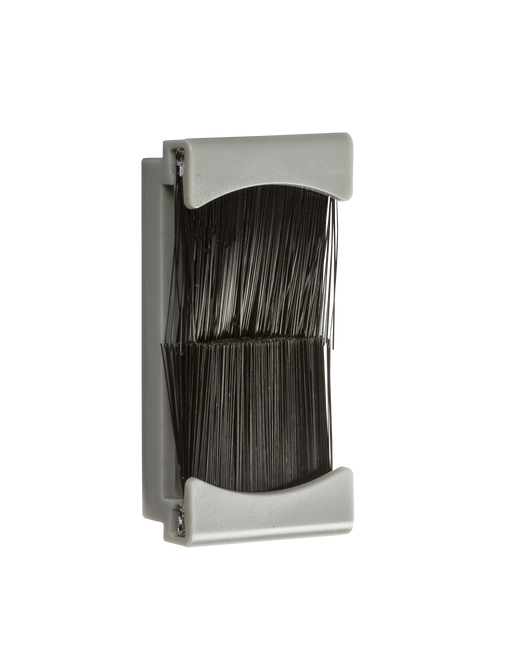 Knightsbridge NETBR1GGY Brush Flex and Cable Outlet Module - Grey (25 x 50mm) - Knightsbridge - Sparks Warehouse
