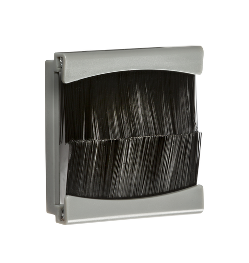 Knightsbridge NETBR2GGY Brush Flex and Cable Outlet Module - Grey (50 x 50mm) - Knightsbridge - Sparks Warehouse