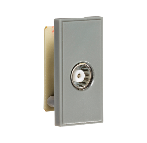 Knightsbridge NETTVGY TV/FM Female Co-Axial Socket Module - Grey - Knightsbridge - Sparks Warehouse