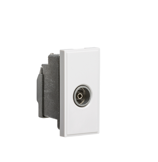 Knightsbridge NETTVSWH Modular Screened tv Outlet - White - Knightsbridge - Sparks Warehouse