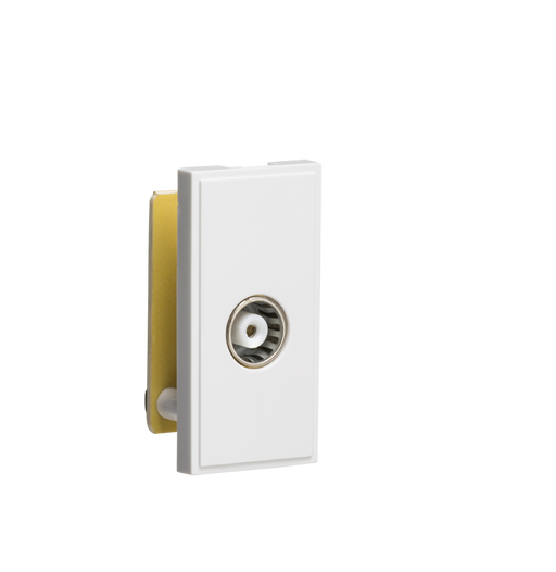 Knightsbridge NETTVWH TV/FM Female Co-Axial Socket Module - White - Knightsbridge - Sparks Warehouse