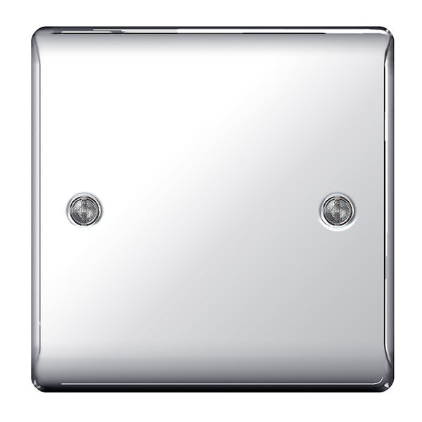 BG Nexus NPC94 Polished Chrome 1 Gang Blank Plate - BG - sparks-warehouse