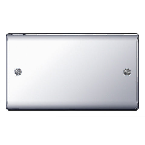 BG Nexus NPC95 Chrome 2 Gang Blank Plate