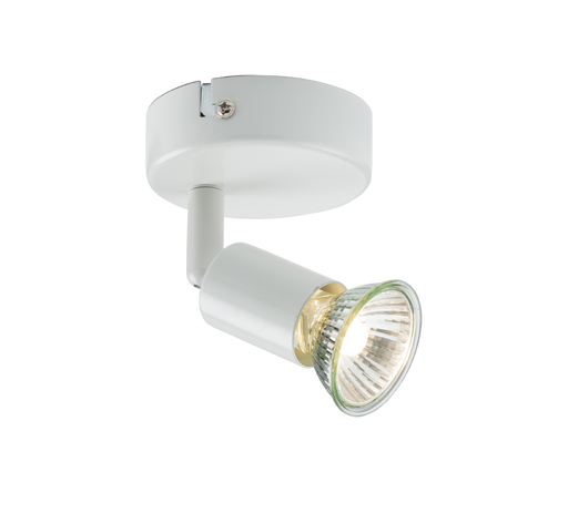 Knightsbridge NSPGU1W 230V GU10 Single SpotLight - White - Knightsbridge - Sparks Warehouse