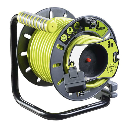 BG Masterplug OATRU3013FL3IP Masterplug 25m + 3m 4 Gang IP Socket 13A Anti Twist Reverse Reel - BG - Sparks Warehouse