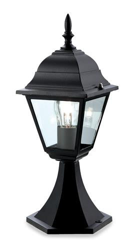 Firstlight P203BK 4 Panel Lantern - Pillar - Black - Firstlight - sparks-warehouse
