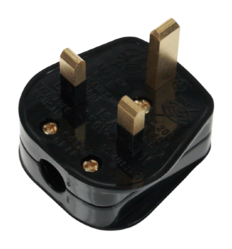 Scolmore PA332 - 13A Resilient Plug Top (5A Fused) Bar Grip - Black - Scolmore - Sparks Warehouse