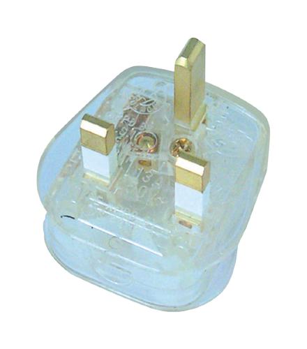 Scolmore PA340TR - 13A Transparent Plug Top (13A Fused) Fast Fit - Clear - Scolmore - Sparks Warehouse