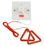 Scolmore PRW211RD - 50A DP Pull Cord Switch With Red Bangle Kit