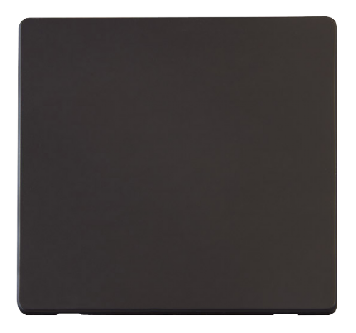 Scolmore SCP060BK - 1 Gang Blank Plate Cover Plate - Black - Scolmore - Sparks Warehouse