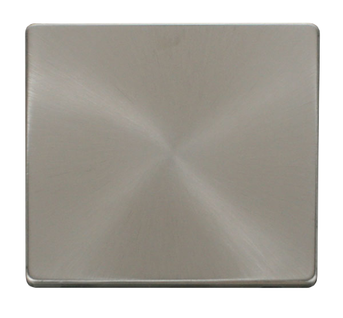 Scolmore SCP060BS - 1 Gang Blank Plate Cover Plate - Brushed Stainless - Scolmore - Sparks Warehouse