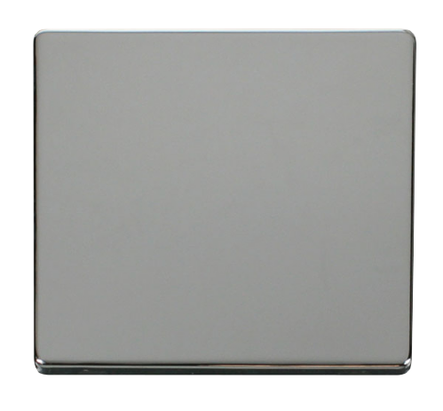 Scolmore SCP060CH - 1 Gang Blank Plate Cover Plate - Chrome - Scolmore - Sparks Warehouse