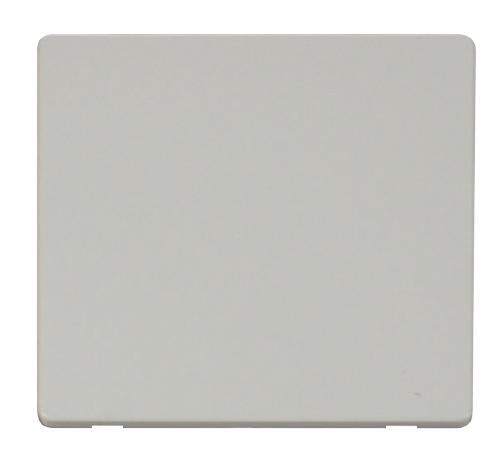 Scolmore SCP060PW - 1 Gang Blank Plate Cover Plate - White - Scolmore - Sparks Warehouse