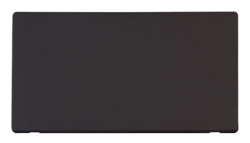 Scolmore SCP061BK - 2 Gang Blank Plate Cover Plate - Black - Scolmore - Sparks Warehouse