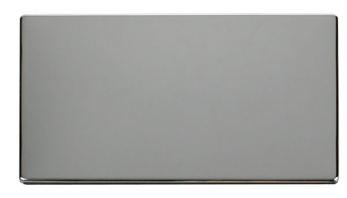 Scolmore SCP061CH - 2 Gang Blank Plate Cover Plate - Chrome - Scolmore - Sparks Warehouse