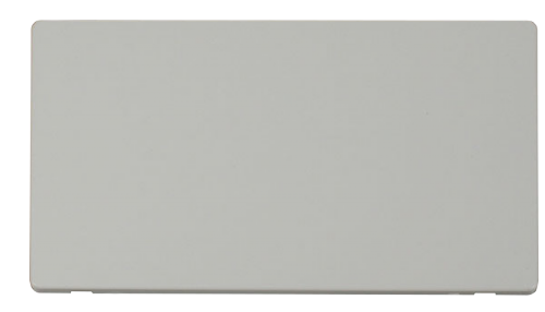Scolmore SCP061PW - 2 Gang Blank Plate Cover Plate - White - Scolmore - Sparks Warehouse