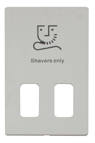 Scolmore SCP100PW - Dual Voltage Shaver Socket Outlet Cover Plate - White - Scolmore - Sparks Warehouse