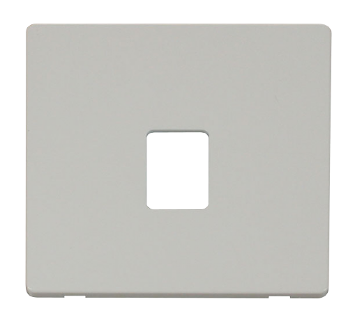 Scolmore SCP115PW - Single RJ11/RJ45 Socket Outlet Cover Plate - White - Scolmore - Sparks Warehouse