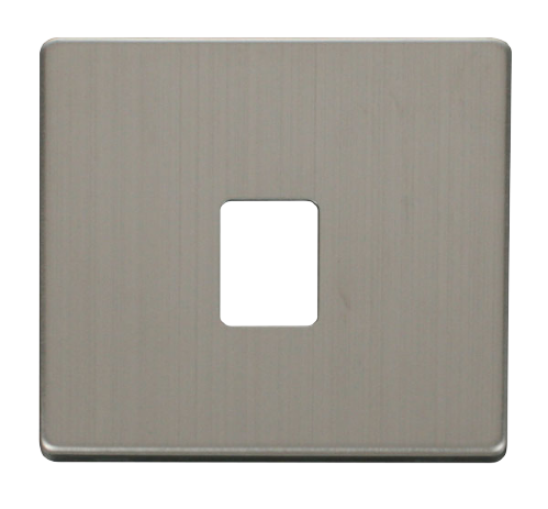 Scolmore SCP115SS - Single RJ11RJ45 Socket Outlet Cover Plate - Stainless Steel - Scolmore - Sparks Warehouse
