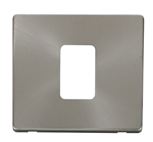 Scolmore SCP200BS - 45A 1 Gang Plate Switch Cover Plate - Brushed Stainless - Scolmore - Sparks Warehouse