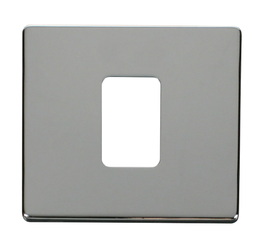 Scolmore SCP200CH - 45A 1 Gang Plate Switch Cover Plate - Chrome - Scolmore - Sparks Warehouse