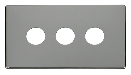Scolmore SCP223CH - 3 Gang Toggle Switch Cover Plate - Chrome - Scolmore - Sparks Warehouse