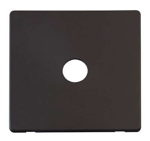 Scolmore SCP231BK - Single Coaxial Socket Cover Plate - Black - Scolmore - Sparks Warehouse
