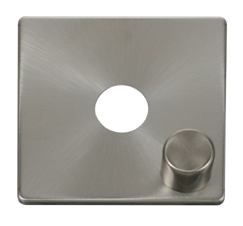Scolmore SCP241BS - 1 Gang Dimmer Switch Cover Plate - Brushed Stainless - Scolmore - Sparks Warehouse