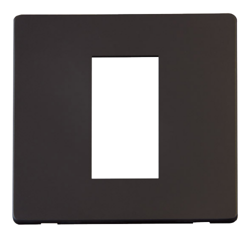 Scolmore SCP310BK - 1 Gang Plate Single Media Module Cover Plate - Black - Scolmore - Sparks Warehouse