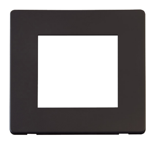 Scolmore SCP311BK - 1 Gang Plate Twin Media Module Cover Plate - Black - Scolmore - Sparks Warehouse