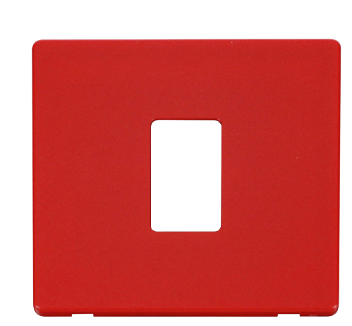 Scolmore SCP401RD - 1 Gang Single Aperture Cover Plate - Red - Scolmore - Sparks Warehouse