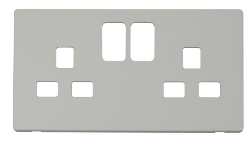 Scolmore SCP436PW - 2 Gang 13A Switched Socket Cover Plate - White - Scolmore - Sparks Warehouse