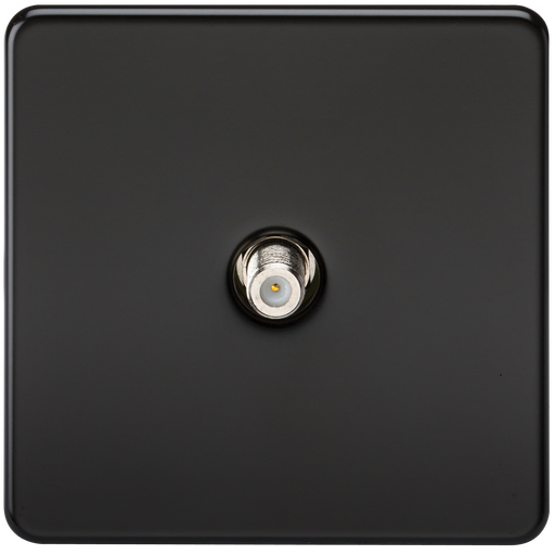 Knightsbridge SF0150MB Screwless 1G SAT TV Outlet (NON-ISOLATED) -  Matt Black