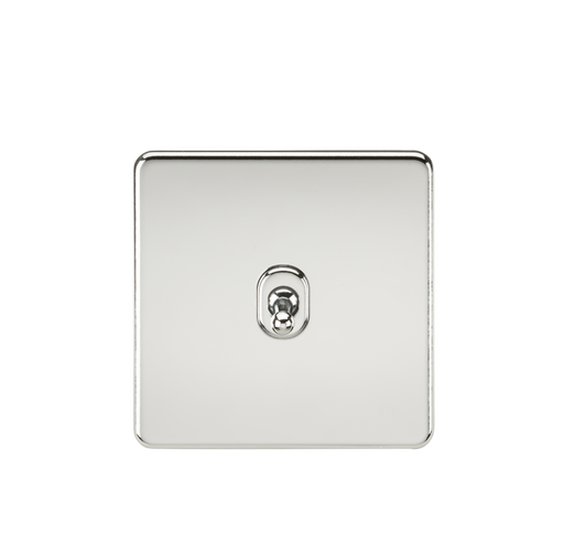 Knightsbridge SF12TOGPC 10A 1G Intermediate Toggle Switch - Polished Chrome - Knightsbridge - Sparks Warehouse