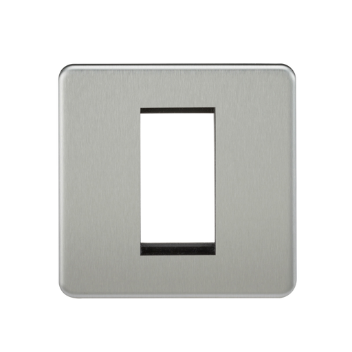 Knightsbridge SF1GBC 1G Modular Face Plate - Brushed Chrome - Knightsbridge - Sparks Warehouse