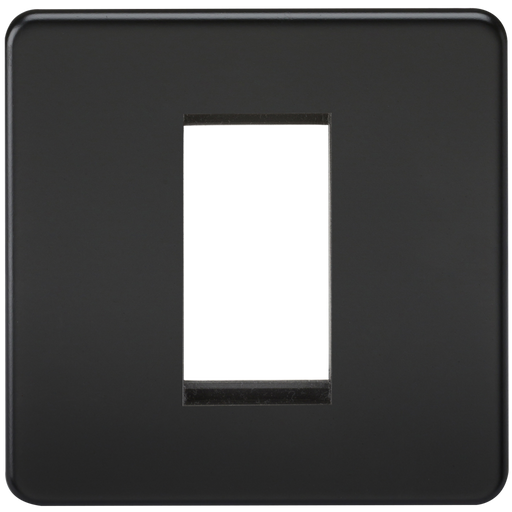 Knightsbridge SF1GMB 1G Modular Face Plate - Matt Black