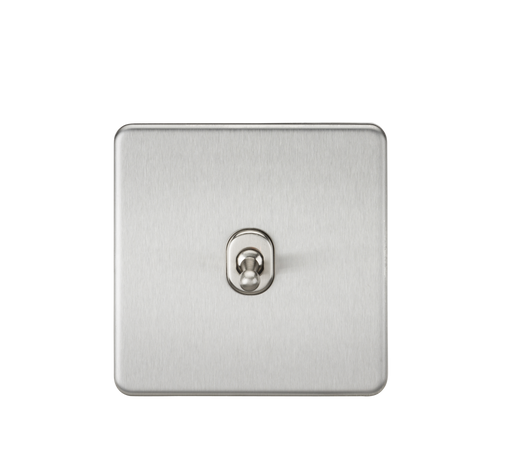 Knightsbridge SF1TOGBC 10A 1G 2 Way Toggle Switch - Brushed Chrome - Knightsbridge - Sparks Warehouse
