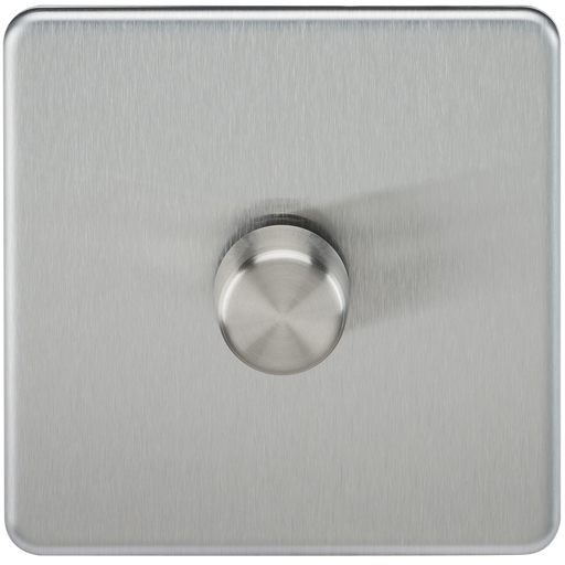 Knightsbridge SF2181BC Screwless 1G 2 WAY 40-200W Dimmer Switch - Brushed Chrome