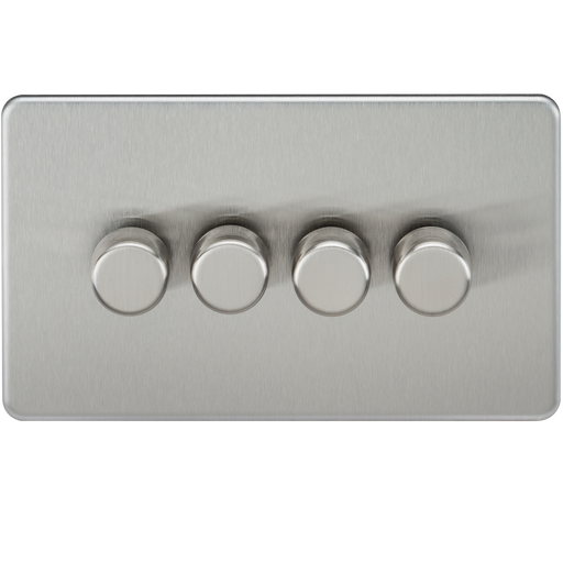 Knightsbridge SF2184BC Screwless 4G 2 WAY LED Dimmer Switch - Brushed Chrome