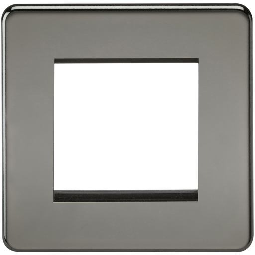 Knightsbridge SF2GBN Screwless 2G Modular Face Plate - Black Nickel - Knightsbridge - Sparks Warehouse