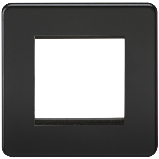Knightsbridge SF2GMB Screwless 2G Modular Face Plate - Matt Black