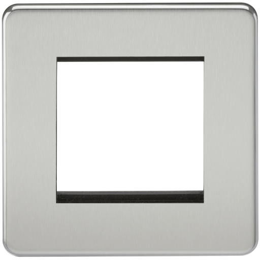 Knightsbridge SF2GPC Screwless 2G Modular Face Plate - Polished Chrome - Knightsbridge - Sparks Warehouse