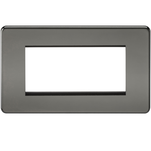 Knightsbridge SF4GBN 4G Modular Face Plate - Black Nickel - Knightsbridge - Sparks Warehouse