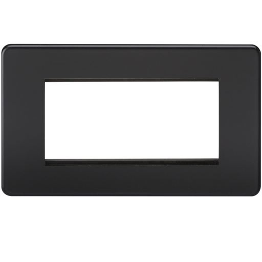 Knightsbridge SF4GMB 4G Modular Face Plate - Matt Black - Knightsbridge - Sparks Warehouse